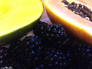 Wednesday: papaya, mango, blackberries