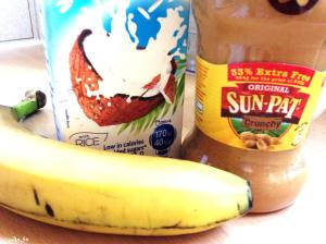 Monday: Banana, Nut butter, Coconut milk