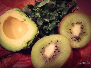 Monday: kiwi, kale, avocado