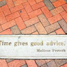 Time gives good advice