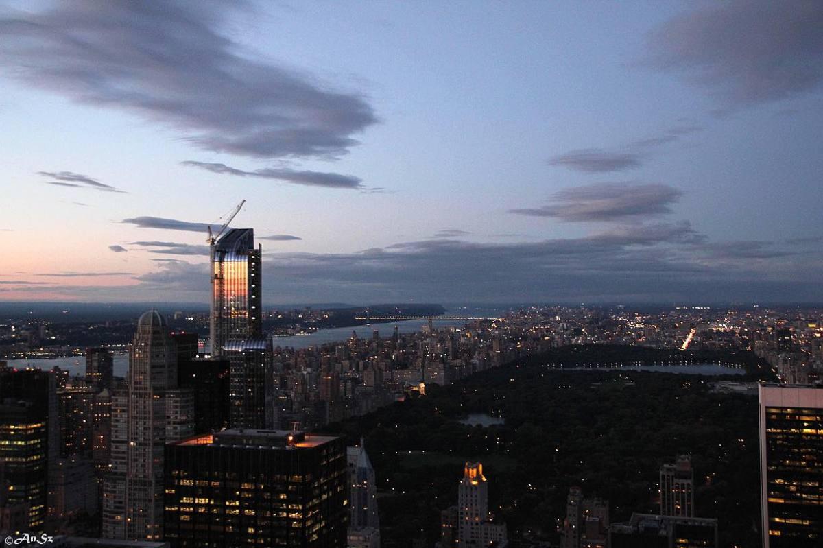 sunset from the Rockefeller