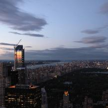 sunset from the Rockefeller