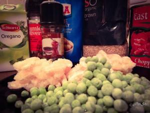 Prawn pasta ingredients