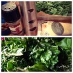 Kale chips - 10min 175C Oil, salt&pepper, parmesan